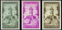 EBS Germany 1956 SAAR - Restoration of Memorials - Michel 373-375 MNH**