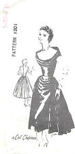 1950s Vintage Sewing Pattern B34 DRESS (1369) By CEIL CHAPMAN For SPADEA