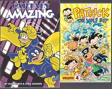 CAPTAIN AMAZING V1 + PATRICK THE WOLF BOY V4 KIDS (2) SC DIGEST BOOK LOT NEW