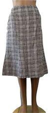 Viscose Business Checked Flippy, Full Skirts for Women