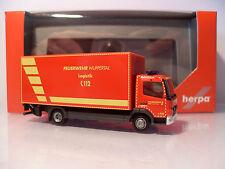 "Herpa 1/87 Mercedes Atego Koffer-LKW ""Feuerwehr Wuppertal ""GW-Logistik"" 091435"