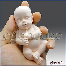 3D Silicone Guest Soap/Candle Mold - Lifelike/Newborn Sleeping Baby