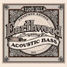 2 Pack! Ernie Ball 2070 Earthwood Acoustic Bass Guitar Phosphor Bronze Strings
