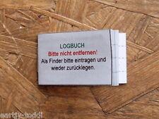 Geocaching Geocache- Logbuch für Filmdose 50mm Dose NEU