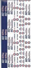 TEXAS RANGERS MLB Baseball Scrapbook Border Stickers