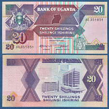 UGANDA  20 Shillings  1987 UNC  P. 29 a