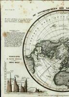 Isothermal Northern Hemisphere mountain range heights compared 1849 Meyer map