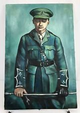 Original Oil Painting Of Military Officer On Canvass