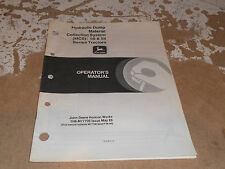 John Deere Material Collection System 50 55 Series Operator's Manual OM-M77706