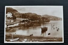 More details for postcard beach combe martin village devon unposted valentines real photo rp
