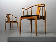 Paar (2) China Chair 4283 Hans J. Wegner Fritz Hansen 1978 Kirschholz Cherrywood