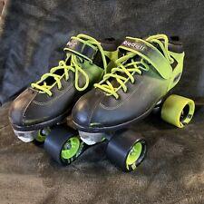 Riedell Dart - Quad Speed Roller Skates 62mm - Green Black Size 6