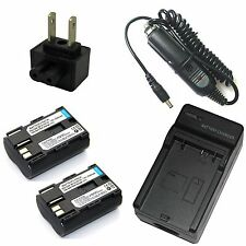 Charger + 2x Li-ion Battery Pack for BP-511 Canon Media Storage M30 M80 New
