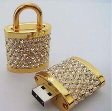 Luxus Schmuck Anhänger Schloß Schloss USB Stick 4 GB 4GB Strass Kristall Gadget