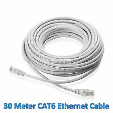 30M 88 Ft Meter LAN CAT6 RJ45 CONNECTOR CORD CABLE Ethernet Patch Router Modem