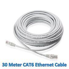 30M 88 Ft Meter LAN CAT6 RJ45 CONNECTOR CORD CABLE Ethernet Patch Router Modem