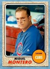 2017 Topps Heritage Baseball ~ Miguel Montero ~ Cubs ~ #103 Bright Yellow Back