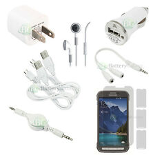 10 pcs Bundle White USB Cable+Wall Charger+Headset for Samsung Galaxy S5 Active