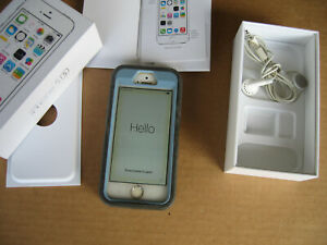 Apple iPhone 5s  32GB – with box  light blue   color