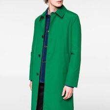 PAUL SMITH MEN'S SMALL GREEN WOOL MELTON OVERCOAT 975P IMMACULATE! RRP £610