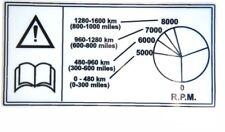 TRIUMPH  MOTORCYCLE MANUAL WARNING SERVICE STICKER  RACING BIKE EMBLEM