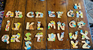 Whimsical Wood Alphabet Letters for Nursery or Child's Room ~ Bartolucci, Italy