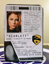 GI JOE SHANA SCARLETT O'HARA FILE CARD 2009 G.I. JOE RISE OF COBRA ROC