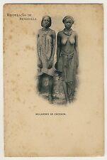 Angola NATIVE WOMEN Caconda FRAUEN * Vintage 1900s Ethnic Nude PC