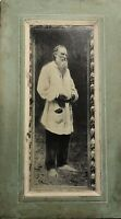 1800s Antique Photo Leo Tolstoy Lithography Cabinet photo