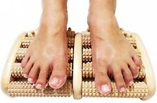TheraFlow Dual Foot Wooden Massager Roller (Large) - Relieve Plantar Fasciitis,