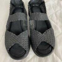 Skechers Synergy Sunday Stroll Peep Toe Black Mary Jane Sandals