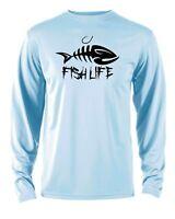 Microfiber Long Sleeve Performance UPF Fishing Boating Shirt
