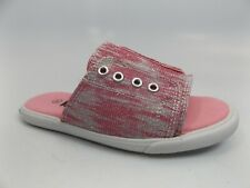 Girls A Line Slip On Sneakers Sandals Pink Flame Stitch Shoes Sz 13.5 K, 10901