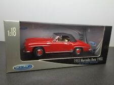 1955 MERCEDES BENZ 190SL 190 SL 1/18 DIE CAST RED BY WELLY 9841W