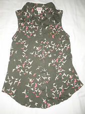 Mossimo Sleeveless Top / Blouse Size M Green