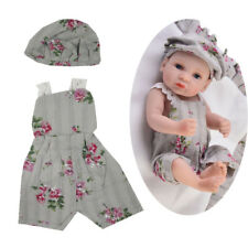 """3pc Baby Doll Clothes Overalls Hat Carpet for 10-11"""" Reborn Girl Doll Outfit"""