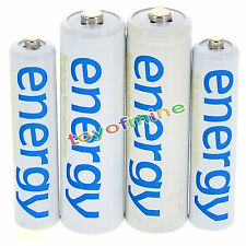 2x AA 3300mAh + 2x AAA 2000mAh Ni-Mh Energy Rechargeable Battery White Cell