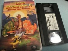The Land Before Time II 1994 VHS Tape in Clamshell