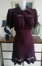 Free People Slip Dress aubergine xs 8/10 new gothic victoriana