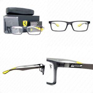 Ray Ban Ferrari RX8901M F636 55mm Transparent Grey Carbon Fiber w/Demo 55-17-145