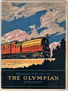1927 Olympian Past Present Railroad Train Chicago Milwaukee St Paul & Pacific