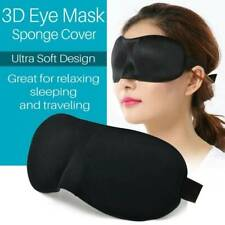 1x3D Soft Padded Blindfold Blackout Eye Mask Travel Relax Sleep Aid Shade Cover~