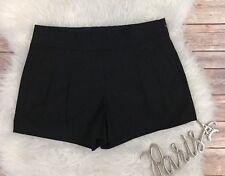 J Crew Women's Pleated Shorts Cotton Blend Black Sz 0