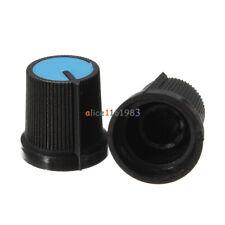 20PCS Blue Face Plastic Potentiometer Black Knob Hole 6mm for Rotary Taper