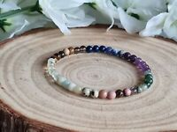 STRESS RELIEVE, ANXIETY & PROTECTION - CRYSTAL HEALING GEMSTONE BRACELET 4mm