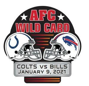 2021 INDIANAPOLIS COLTS BUFFALO BILLS AFC WILD CARD GAME PIN NFL SUPER BOWL LV ?