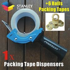 1x Low Noise Packing Tape Dispenser Gun 6x Rolls Clear Packing Tapes