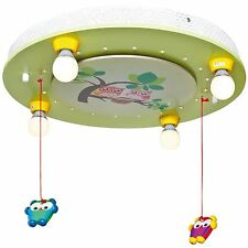 Deckenleuchte Deckenlampe Kinderzimmer Eulen Mobile 4xE14 + LED * ELOBRA