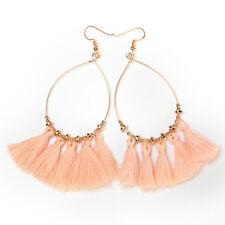 Charm Women Bohemian Long Tassel Design Earrings Fringe Boho Dangle Hook Jewelry