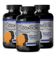 Best Hair Loss Vitamins - Anti Gray Hair Solution 1500mg - Hair Growth 3B